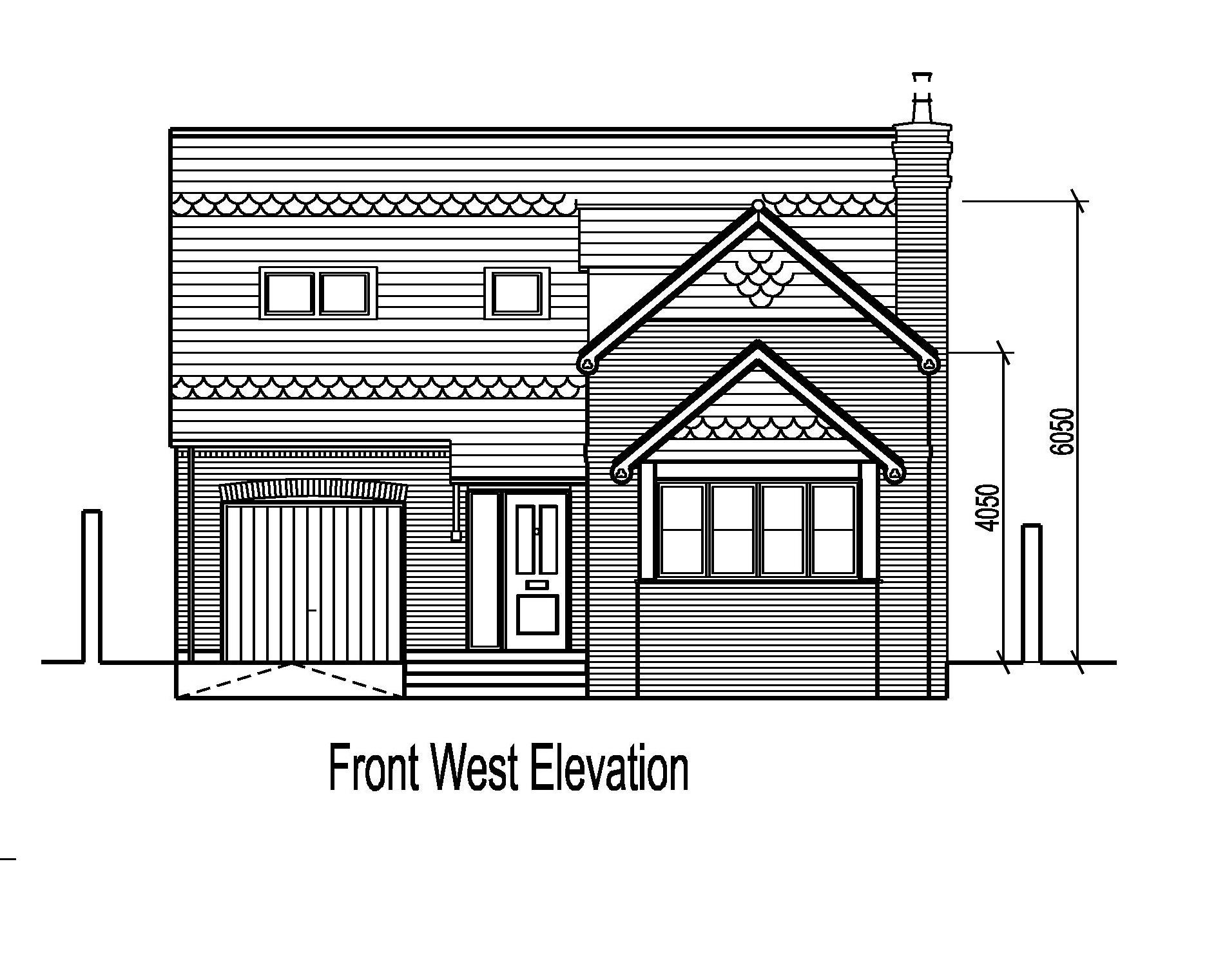 Front Elevation Planning Permission : Land in nottingham building plot at main street sdl